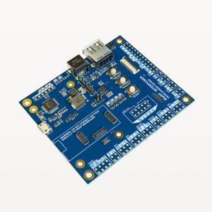 The WaRP Interposer Development Board provides breakout access to interfaces of the WaRP mainboard including a USB serial console, GPIO, UART, SPI, I2C, Electronic Paper Display, USB Host, JTAG and Boot mode selection and more.